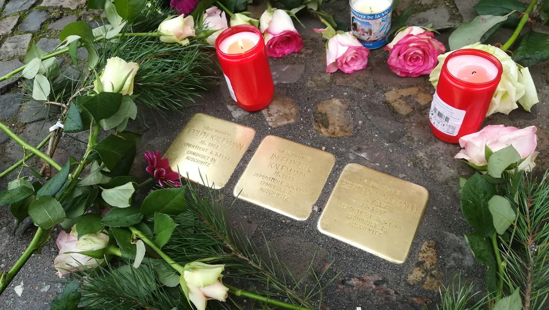 Verlegung der Stolpersteine in Friedenau