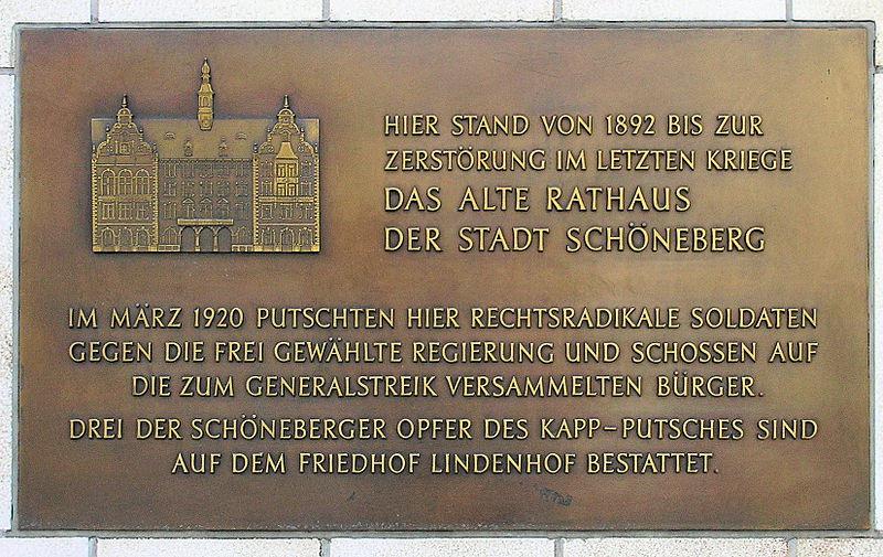 100. Jahrestag Niederschlagung Kapp-Putsch & Bahnübergang Buckower Chaussee