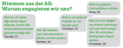 AG Radverkehr - Stimmen aus der AG