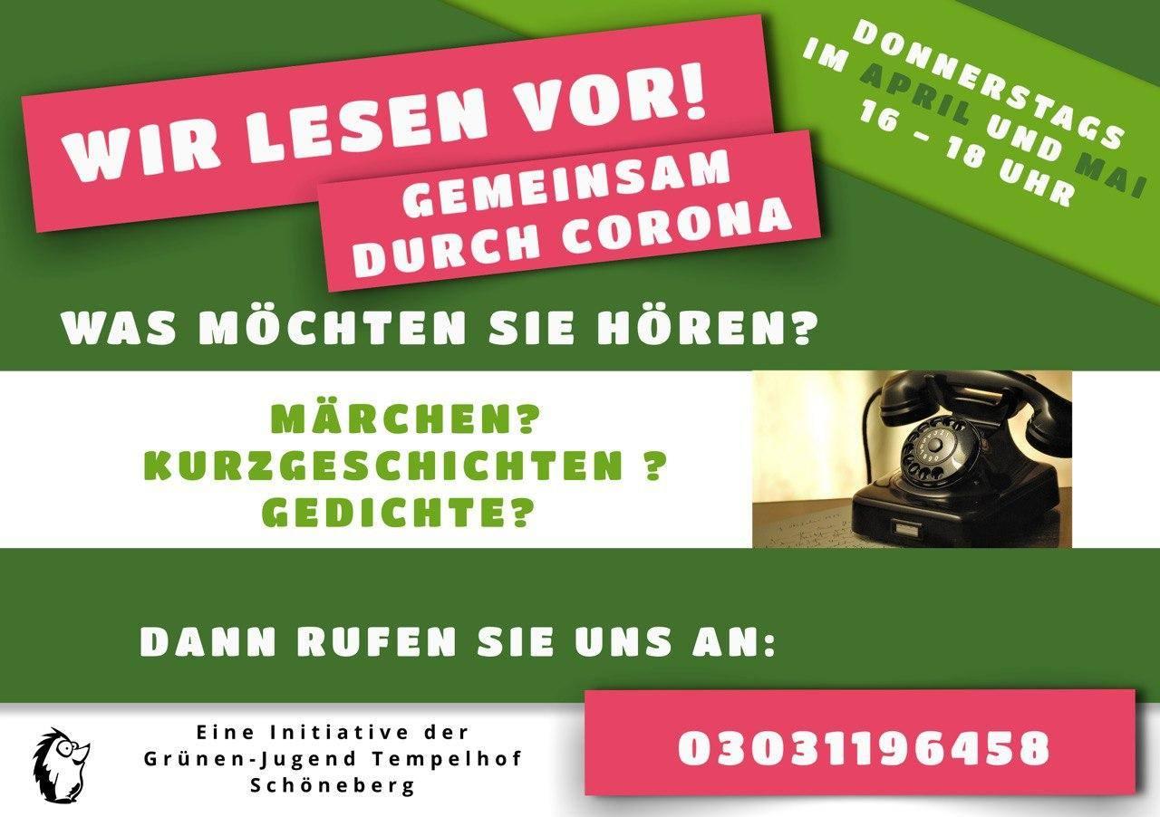 Grüne Jugend Tempelhof-Schöneberg stellt Senior*innenhotline vor