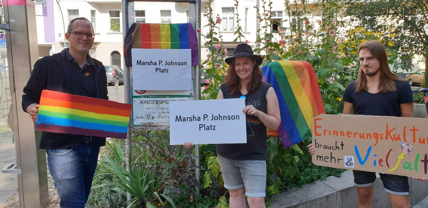 Für einen Marsha P. Johnson-Platz im Regenbogenkiez!