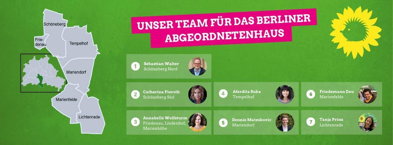 Unser Team für das Abgeordnetenhaus
