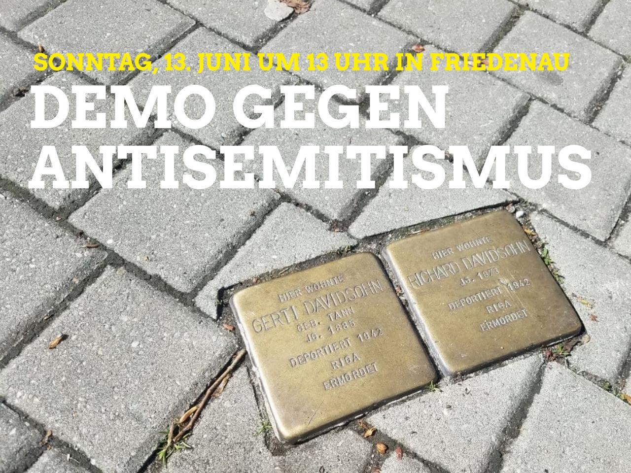 Demo gegen Antisemitismus